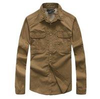 Wholesale Army Gear Tactical Outdoor Fishing Shirt Men Teflon Breathbale Long Sleeve Sport Military Combat Shirts Hunting Hiking Clothing