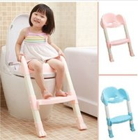 Wholesale 2016 Baby Potty Seat With Ladder Children Toilet Seat Cover Kids Toilet Folding infant potty chair Training Portable Potties