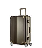 aluminum luggage - 20inch color PC Aluminum frame TSA lock Multiwheel Hardside spinner groove design medium extended Luggage Cabin travel case