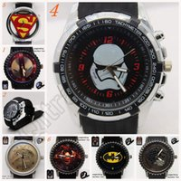 batman wrist watch - 20Designs Unisex Spider Man Superman Wrist Watch Gift Stainless Steel Batman Electronic Captain America Wrist Watch LJJL139