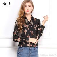 Wholesale 1pc Summer Women Shirt Chiffon Blusas Femininas Tops Elegant Ladies Formal Office Blouse Colors