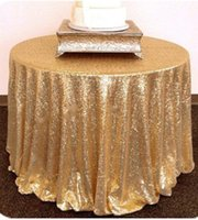 Wholesale Shiny Beauty in Round Rose Gold Sequin Tablecloth For Wedding Party Decoration
