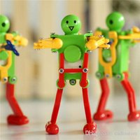 Wholesale Colorful Clockwork Spring Wind up Dancing Walking Robot Toy For Baby Child A00138 BARD