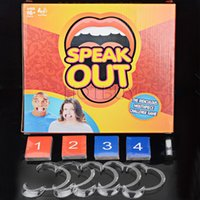 Wholesale Funny Mouthpiece Speak Out Great Family Gift Party Board Game Christmas Gift Adult Phrase Card Game