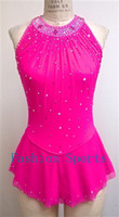 Wholesale Custom Figure Skating Dresses For Kids With Flowers Graceful New Brand Ice Skating Competition Dress DR2709