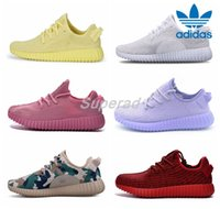 Cheap 2016 Adidas Yeezy Boost 350 Custom Mismatch Yellow Pink Purple White Camo Men Women Running Shoes Kanye West Yeezy 350 Yeezys Boosts Season