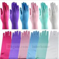 Cheap Kids Frozen Elsa Gloves Fancy Gloves Girls Long Gloves Finger Gloves Costume Halloween Gloves Christmas Party Costume Accessories Gift B1245