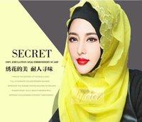 Wholesale fashion hijabs muslim warp ship red yellow and khaki chiffon hijabs Hot Sale