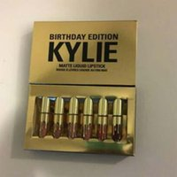 Wholesale 2016 New arrival Kylie Jenner Cosmetics Matte Lipstick Lip Goss Mini Leo Kit Lip Birthday Limited Edition Gold