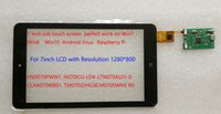 Wholesale Carpc Carputer DIY USB Capacitive touch screen for HSD070PWW1 N070ICG And Other inch with Support Win7 Android Raspberry pi