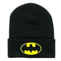 batman fitted cap - New Winter Cap Women Batman Beanies hats and caps Unisex sports hip hop cotton knit cap gorro