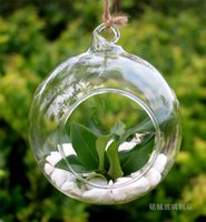 Wholesale Glass Hanging Vase Tabletop Vases Terrarium DIY Home Wedding Christmas Deco Transparent Diameter cm Inch jy358