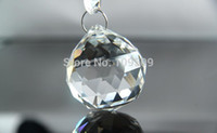 Wholesale AAA mm clear Hanging CRYSTAL SPHERE BALL Suncatcher Feng Shui Prism Pendant