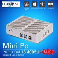 Wholesale Gaming Desktop Computer Intel Haswell Nuc Core i3 U Fanless Micro Mini PC Windows TV Box WiFi VGA HDMI CE FCC ROHS HTPC