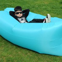 Wholesale DHL Air hangout bag hangout inflatable sleeping bag Newest Design Nylon Inflating Airsofa cheap price inflatable air sleeping