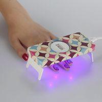 Wholesale Foldable Mini LED UV Nail Lamp Colors w Ultra thin Personal Nail Dryer UV Nail Gel Led Light with USB Power Line Nail Tools