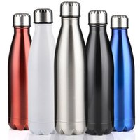 Wholesale 750ml Swell Bottle Stainless Steel Sports Drinking Bottles Coka Metal Vacuum Mug Bottle Custom Thermos Stainless Cup Fashion Drinkware Multi