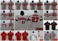 albert pujols - A Elite Los Angeles of Anaheim Albert Pujols Mike Trout Rod Carew Reggie Jackson signed stitched jersey