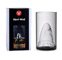 Wholesale Jaws Vodka Shot Glass Pirate Glasses Beer Mug Glass Vodka Shot Wine Glass Novelty Cup Retail Package