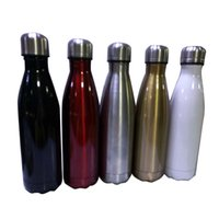 Wholesale Hot Cola Shaped Insulated Double Wall Vacuum high luminance Water Bottle oz ml Creative Thermos bottle Vaccum Insulated