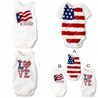 baby onesie pattern - 2016 summer baby boys girls cotton romper body suits Jumpsuits th of july onesie stripes quot Love quot and stars pattern
