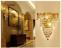 Wholesale Modern crystal wall lamp modern Crystal Sconce wall Lights living room wall lamp lamps k9 crystal Lighting