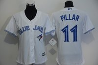 base number - Toronto Blue Jays Cool Base Jersey Womens Kevin Pillar White Baseball Jersey Stitched Name Number and Logos