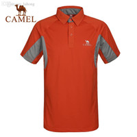 Wholesale Camel outdoor men s quick drying T shirt fast drying breathable wicking short sleeve t shirt A5S209045