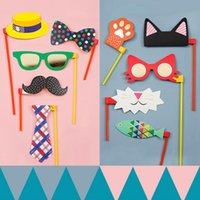 Wholesale pc pack Colorful DIY Photo Booth Props and backdrop Party Props for Kids Birthday Party Supplies