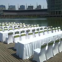Wholesale Universal White spandex Wedding Party chair covers White spandex lycra chair cover for Wedding Party Banquet Multi Color