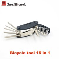 Wholesale 15 in Mountain Road Bikes Repair Tool Set Wrench Screwdriver Multifunctional Tools Kit Portable Type Chain Tire Check Maintain