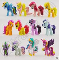 Wholesale 500pcs CCA4333 High Quality set My Little Pony Cake Toppers PVC Action Figures Kids Dolls My Little Pony Action Figures Toys