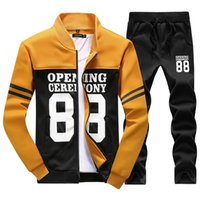 baseball style hoodies - New style Sweatshirt Men Hip Hop Clothing Fashion Luxury Hoodies Mens Tracksuit Set Cotton Baseball Sweat Suits Men Sport Suit M XL