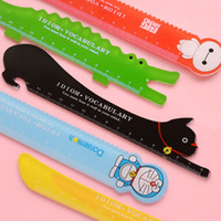 Wholesale 48 Cartoon line ruler cm scales school supply Hello kitty Baymax Totoro Doraemon Stationary Office accessories
