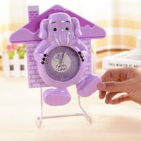 bell discounts - 72pcs A discount LM7388 plate iron house elephant swinging bell bedside clock plastic alarm clock