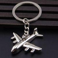 airplane key holder - Creative Boeing Airplane Model Key chains Aircraft Keychain Metal Key Ring Keyfob Aeroplane Key Holder Llaveros Silver Plated