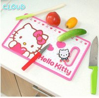Wholesale 2016 New Hello Kitty Kitchen Fruit Cutting Board Antibacterial Matte Surface Chopping Boards Cute Kids Love Size Style