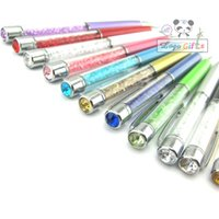 amazing logo designs - HOT a ballpoint pen with top crystal metal fashion new design beads gift Novelty custom pens with logo text amazing stationary
