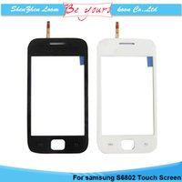 ace digitizer - for Samsung Galaxy Ace DUOS GT S6802 S6802 Touch Screen Digitizer Sensor Front Glass Lens Replacement Black and White