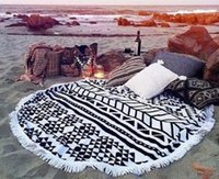 beach towel sales - Fashion beach towels Hot Sale microfiber beach towel round with tassel round beach towel cm Bohemia Round tassel beach Towels Free DHL