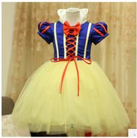 Wholesale Halloween children s wear girls dress skirt Snow White cosplay cute kids performance clothes Christmas dress party clothing