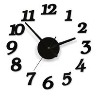 Wholesale DIY Adhesive Decal Modern Wall Digit Number Room Interior Decoration Clock