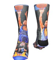 acrylic paul - 3D printed basketball socks Michael JD LB James KB Bryant Kevin Durant Anthony Paul GREFFIN Curry USA brand odd socks men meias