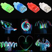 Wholesale Free DHL Shipping LED Finger Lamp Lights Glow Laser LED Beams Flashing Ring Party Flash Kids Growups Toys Colors