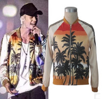 baseball fashion clothing - 2016 New Arrivals Mens Clothing Men Brand The Coconut Trees in Hawaii Baseball Jackets Justin Bieber Concert Clothing