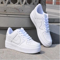 Wholesale 2016 Classic Air All White All Black Shoes Unisex Casual Shoes High Top Men Women Breathable Walking Shoes Outdoor Shoes Men All Size