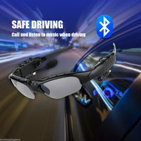 Wholesale 2016 New Unisex Driving Polarizing Sunglasses Bluetooth Stereo MP3 Music Headset Talking Caller ID Earphone Polaroid Smart Glass For Iphone