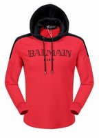 Wholesale 2016 Mens Balmain High quality Autumn Winter male plus size fashion sport jacket Casual with hood male skulls tracksuit