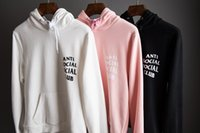 Wholesale ANTI SOCIAL SOCIAL CLUB Hoodie Men High Quality Kanye West Cotton Hoodies Skateboard Sweatshirt Pullover