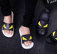 bathrooms black and white - Summer little monsters indoor and outdoor lovers bathroom plastic non slip odor proof bath home household cool summer slippers female male